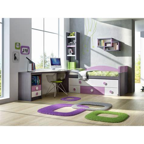 029 Mueble juvenil compacto, con mesa estudio y libreria ...