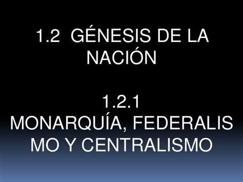 1.2 GÉNESIS DE LA NACIÓN