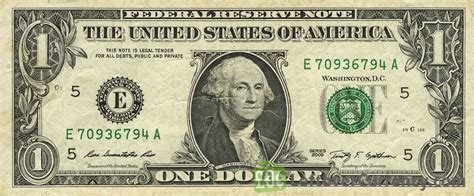 1 American Dollar banknote   Exchange yours for cash today
