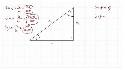 1. Razones trigonométricas: seno, coseno, tangente ...