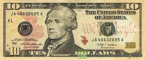 10 American Dollars banknote   Exchange yours for cash today