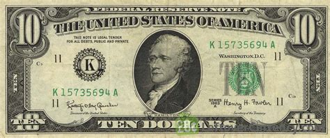 10 American Dollars series 1963   Exchange yours for cash ...