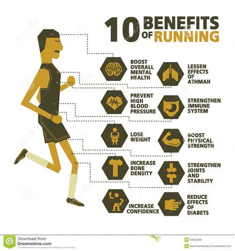 10 Benefits Of Running Vector Stock Vector - Image: 50923496