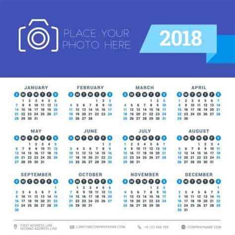 10 calendarios 2018 listos para imprimir | Recursos Gratis ...