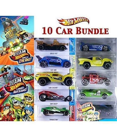 10 Car Bundle - Team Hot Wheels: Build the Epic Race + The ...