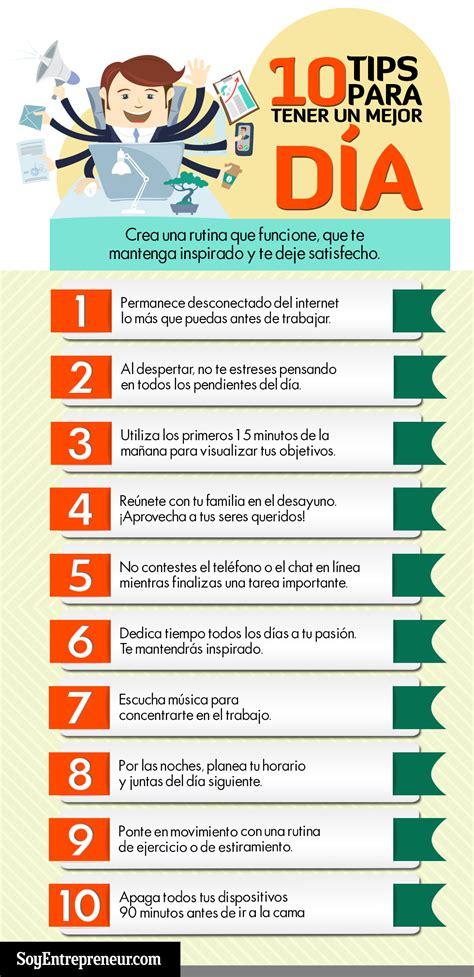 10 consejos para tener un buen día #infografia # ...