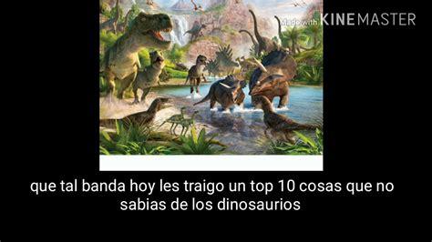 10 cosas que no sabias de los dinosaurios   YouTube