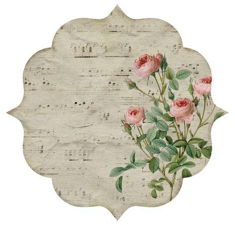 10 etiquetas románticas y vintage con flores para imprimir ...