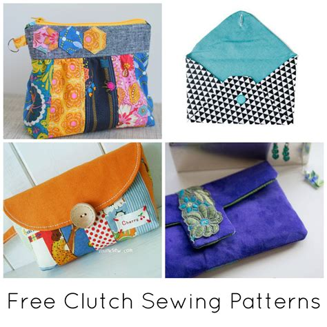 10 FREE Clutch Sewing Patterns to Bust Your Stash