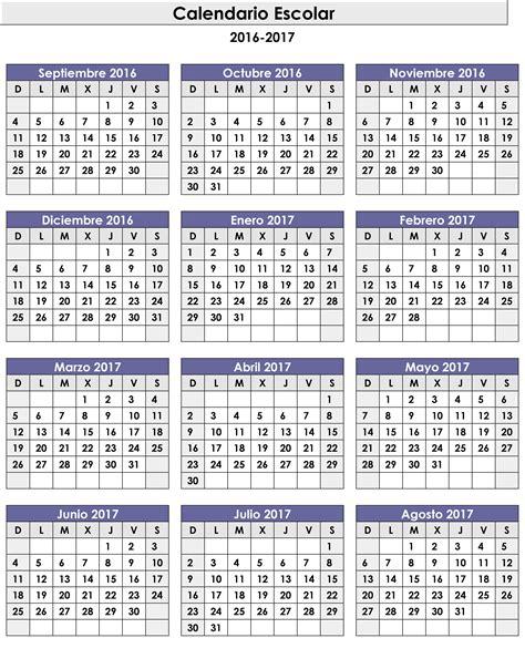 10 plantillas de calendario 2017 para imprimir   tuexperto.com