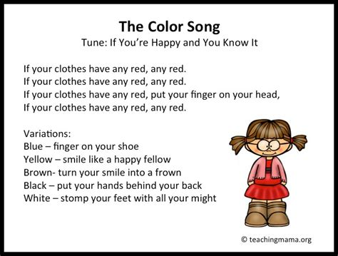 10 Preschool Transitions  Songs and Chants to Help Your ...