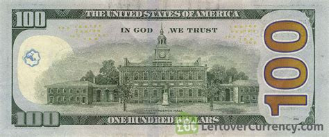 100 American Dollars banknote   Exchange yours for cash today