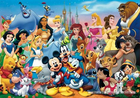 1000 pcs jigsaw puzzle: Disney Family - THE WONDERFUL ...