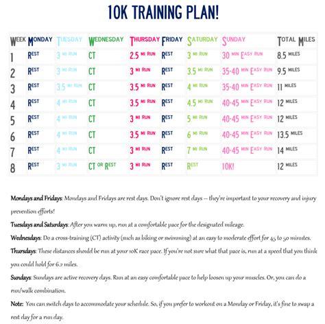10K Training Plan for Advanced Beginners. Geared toward ...