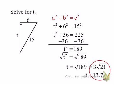 11.7 Pythagorean Theorem & Distance Formula - YouTube