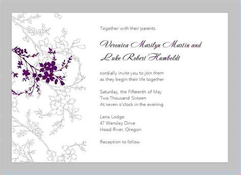 11+ free printable wedding invitation templates for word ...