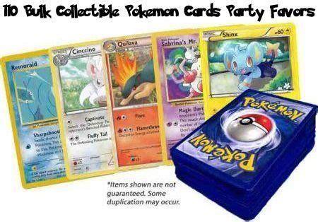 110 Bulk Collectible Pokemon Cards Party Favors  Pokemon ...
