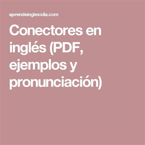 12 best aprendiendo Ingles images on Pinterest | English ...