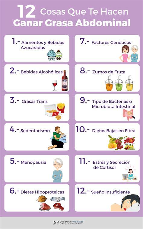 12 Cosas Que Te Hacen Ganar Grasa Abdominal   La Guía de ...