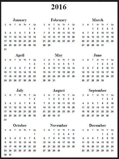 12 Months Calendar | printable calendar yearly