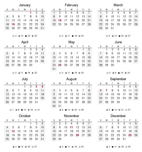 12 Months of the Year