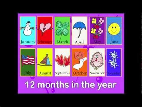 12 Months of the Year Song in English and Spanish for ...