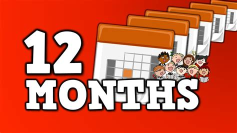 12 MONTHS!  song for kids about 12 months in a year    YouTube