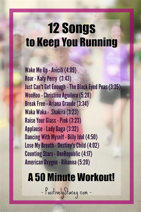 12 Songs to Keep You Running   Positively Stacey