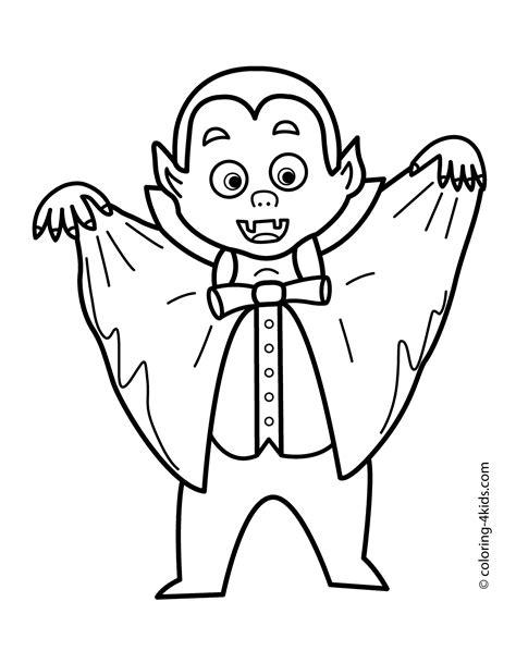 12 vampire coloring pages printable | Print Color Craft