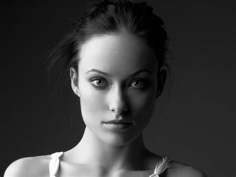 1280x960 Olivia Wilde Black and White Portrait desktop PC ...