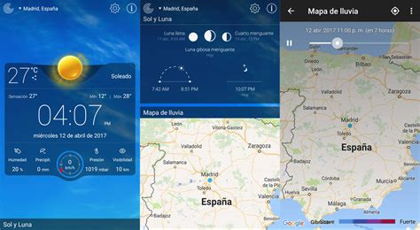 13 apps del tiempo para anticiparte a la lluvia, las nubes ...