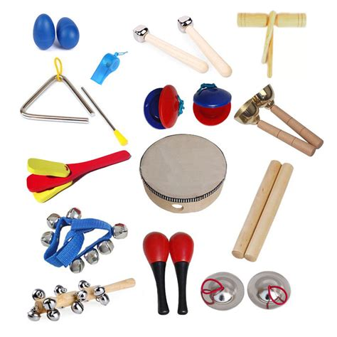 14 types Orff Musical Instruments Kids Preschool Early ...