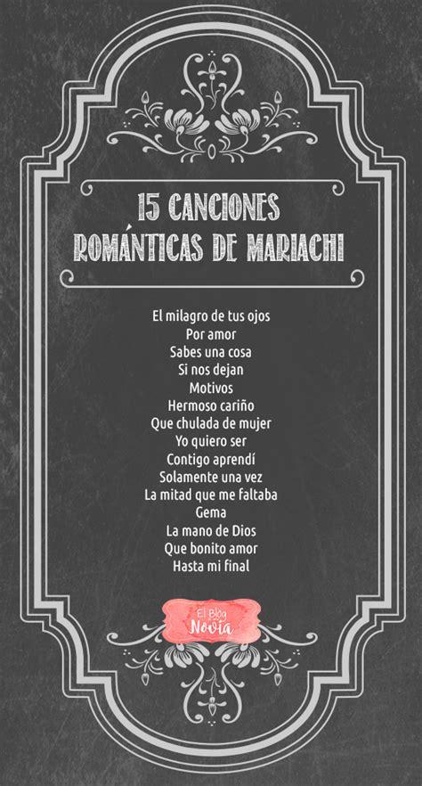 15 Canciones Románticas de Mariachi para la Boda   El Blog ...