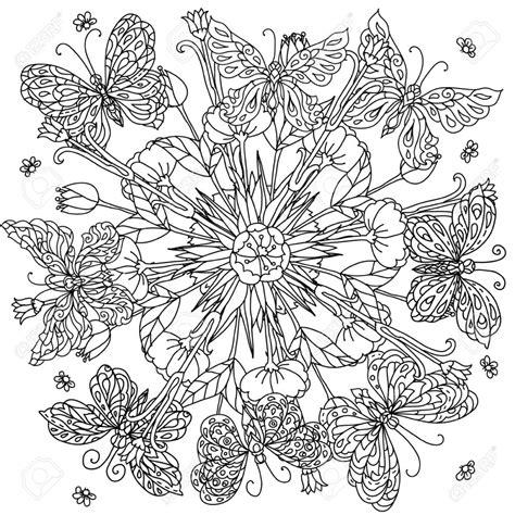 15 Dibujos Para Colorear De Mandalas De Flores