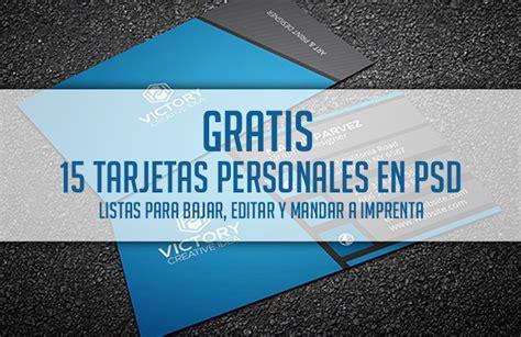 15 tarjetas personales en PSD y GRATIS, listas para ...