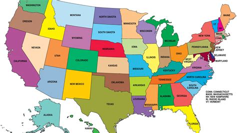 16 United States Of America Map HD Wallpapers Desktop ...