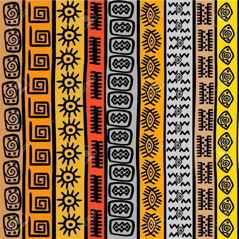 16583897 Seamless pattern with ethnic African motifs Stock ...