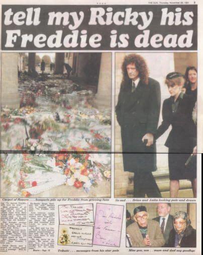 17 Best ideas about Freddie Mercury Funeral on Pinterest ...