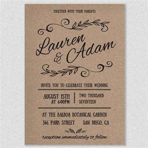 17 Best ideas about Printable Wedding Invitations on ...