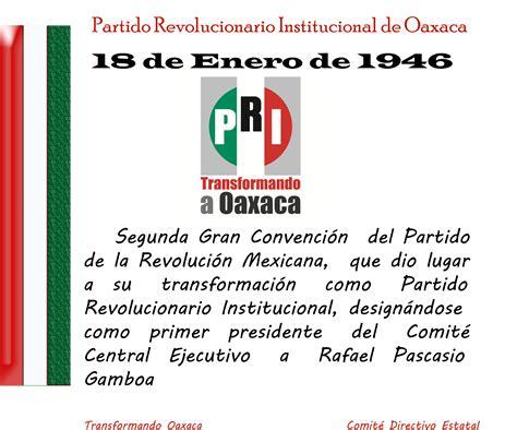 18 de Enero de 1946, el PRM se transforma en PRI