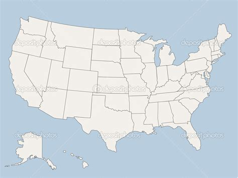 19 Free Vector Map Of USA Images   USA Map with State ...
