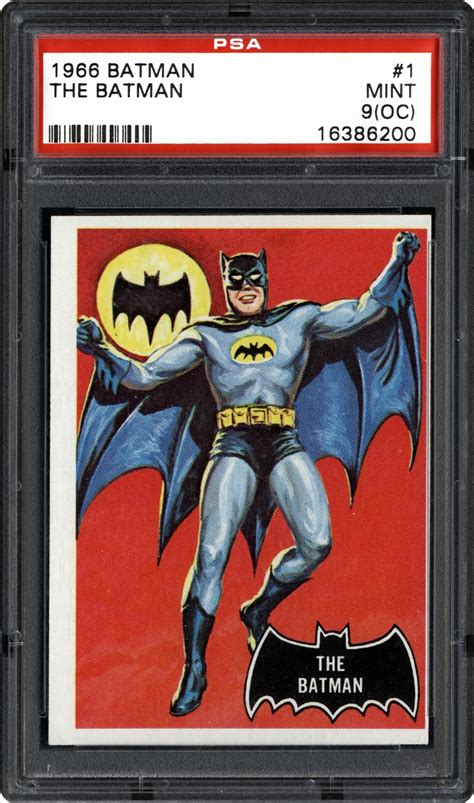 1966 Topps Batman (Black Bat) Non-Sports Cards - PSA SMR ...