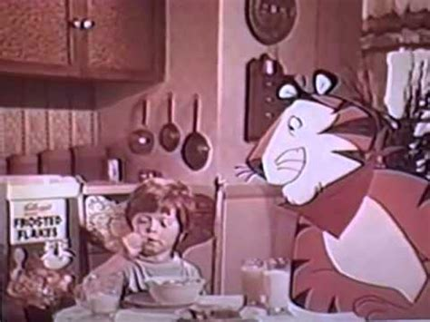 1971 Kellogg's Frosted Flakes Cereal TV commercial w/Tony ...