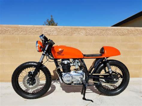 1977 Honda CB550F Cafe Racer Orange Vintage Bike | Custom ...
