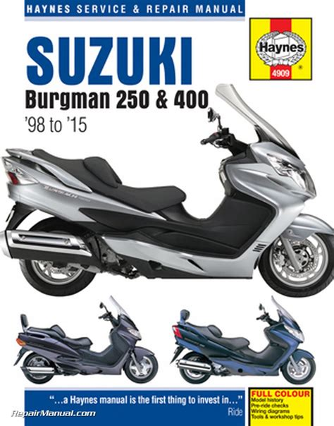 1998-2015 Suzuki Burgman 250 400 Scooter Repair Manual by ...