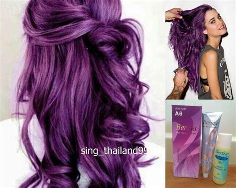 1X Berina A6 Violet Purple Color Hair Cream Color ...