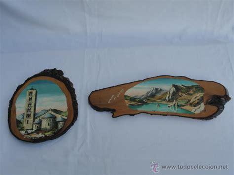 2 adornos recuerdos años 60 70. madera. s. clem   Comprar ...