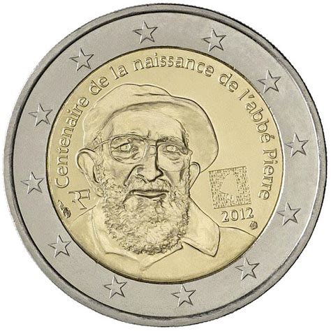 2 euro coin 100th Anniversary of Abbé Pierre's birth ...
