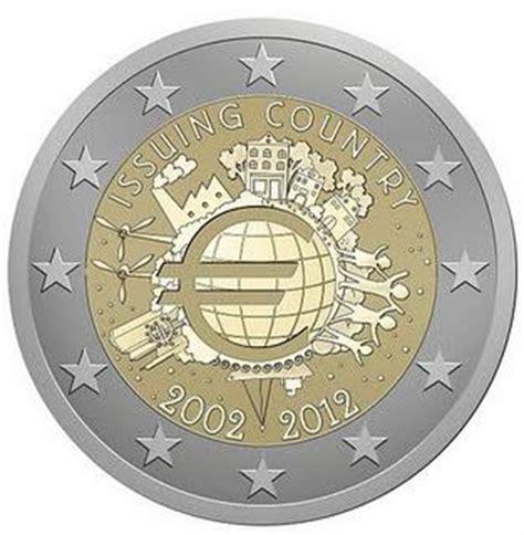 2 Euro conmemorativos 2012 10 Años de la circulación de ...