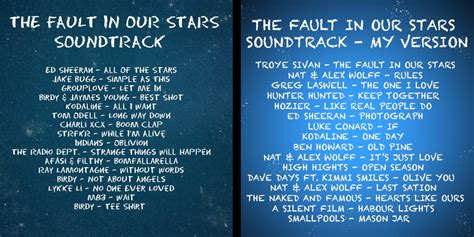 2. If I Created the Fault in Our Stars Soundtrack (Part 1 ...